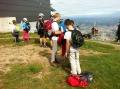 Z vrha pohorske vzpenjače pogled na Maribor